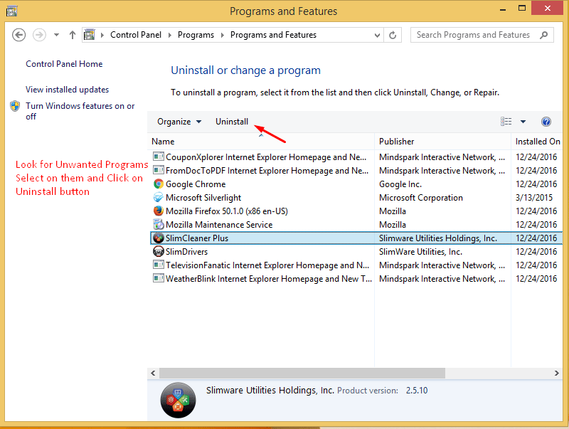 Uninstall Adware Program Windows