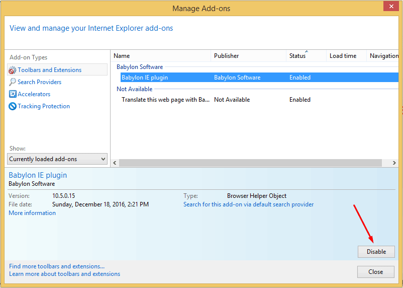 remove internet explorer adware extension