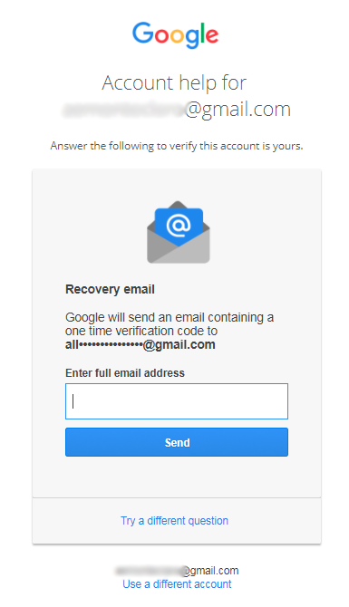 i forgot my gmail password and i cant reset it