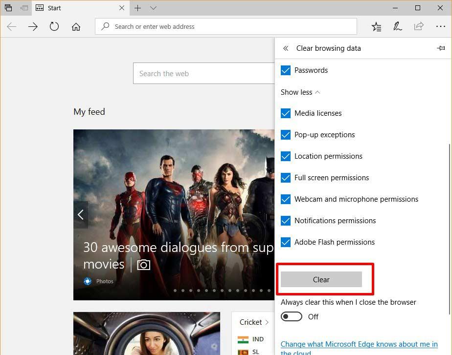 Reset Microsoft Edge 4