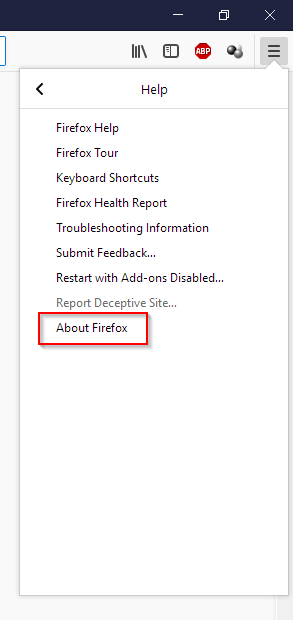 About Firefox - How to stop Malvertising