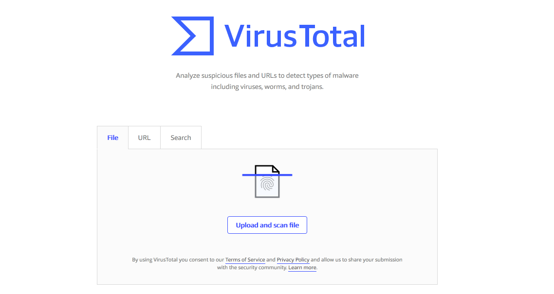 Virus Total - Best ONline Virus Scanner
