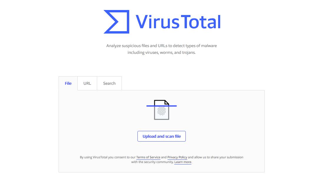 Virus Total - Best ONline Virus Scanner